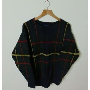 Ralph Lauren M Pullover Wool Sweater Knit Blue